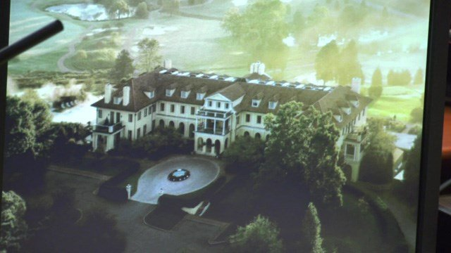 An overhead picture of Keswick Hall.