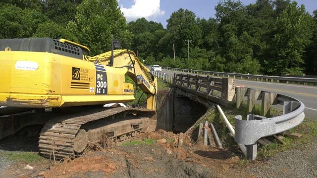 Construction is underway on Little Ivy Creek Bridge