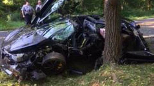 Newly purchased $300K sports vehicle totaled in crash