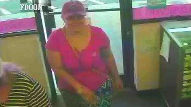 One of the women suspected of stealing gold coins.