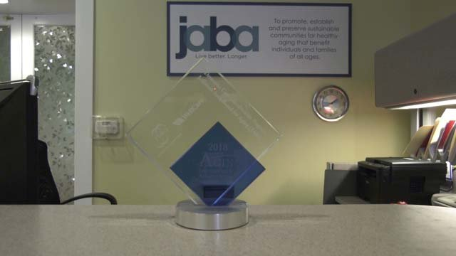 JABA received an award for its dementia care coordination program