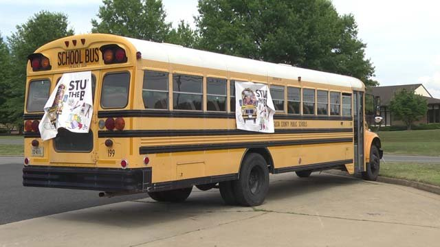 The buses will be outside the Walmarts in Staunton and Waynesboro
