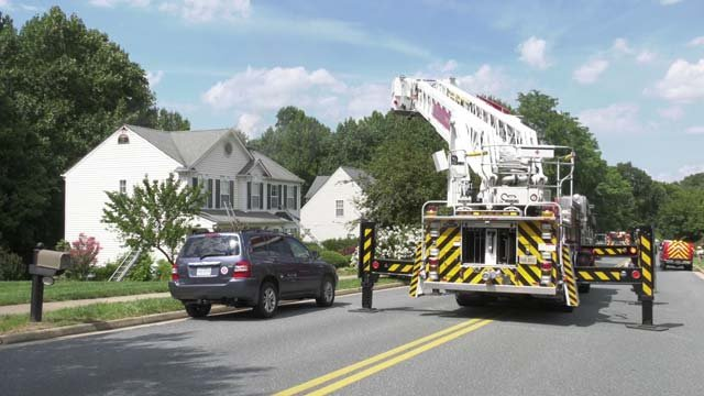 Crews responded to a fire around 3 p.m. on August 9