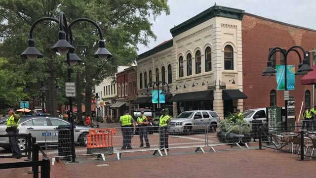 Virginia State Police on the Downtown Mall