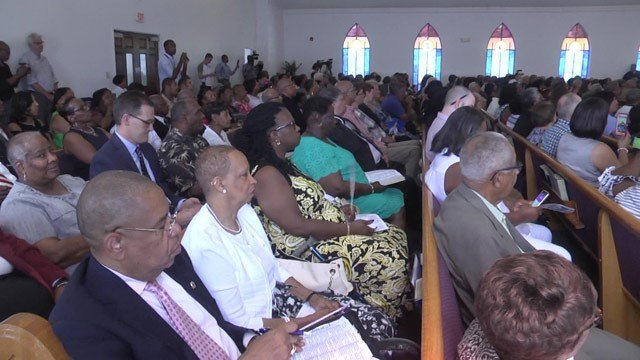 Hundreds were in attendance at the service.