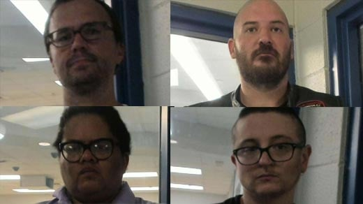 Police made four arrests on August 12, 2018