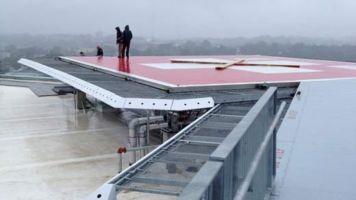 New helipad on roof