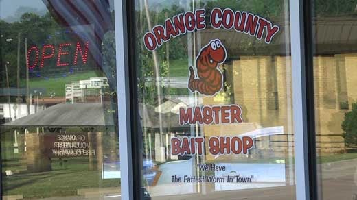 New  Master Bait Shop  Has Town of Orange Talking