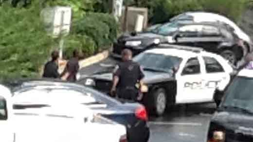Courtesy Amanda Ohlms, NBC29 viewer saw suspect being arrested behind home on Druid Ave.
