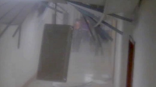 Photo from Louisa County High School surveillance camera captured during the earthquake.