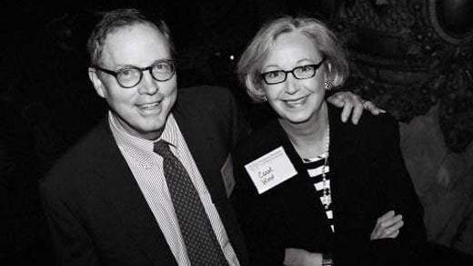 Photo Courtesy of Sorensen Institute: Photo shows Bill Wood and his wife Carol Wood attending a Sorensen Institute event.
