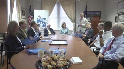 Community leaders gather to celebrate the Charlottesville Regional Chamber of Commerce's 100th birthday