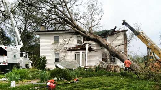 severe storms damage  destroy homes in louisa county