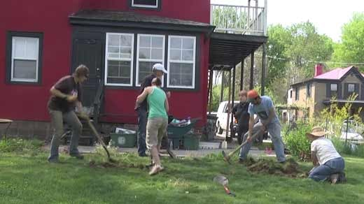 Group members say they hope to stay very busy this summer digging up other areas around the city for gardens.