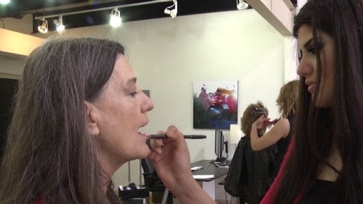 "A ""power crew"" of stylists gave free makeovers, haircuts and photo shoots to cancer survivors."