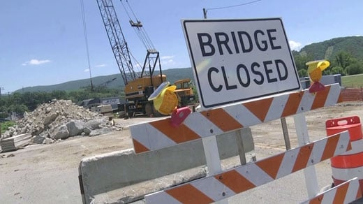 Waynesboro bridge work
