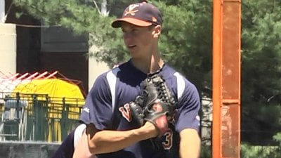 Kyle Crockett was drafted in the 4th round by the Indians