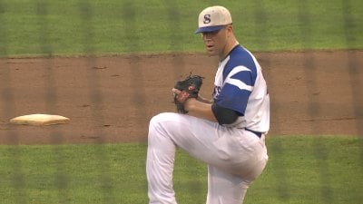Aaron Weisberg pitched a complete game for the Braves