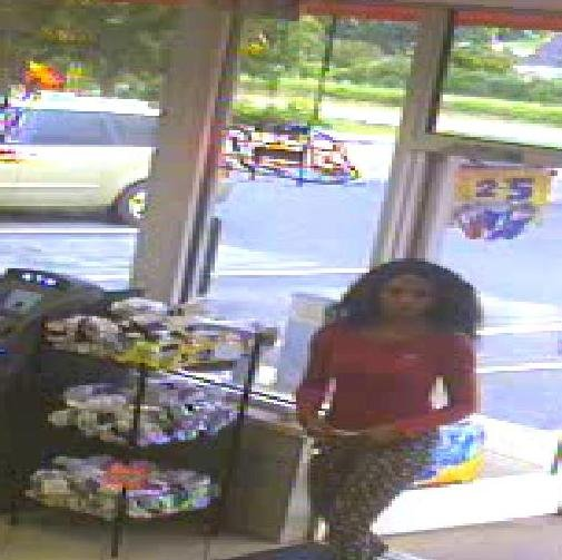 Surveillance photo released by the FBI of Alexis Murphy at Liberty gas station in Lovingston