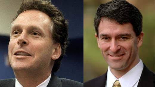left: Terry McAuliffe, right: Ken Cuccinelli
