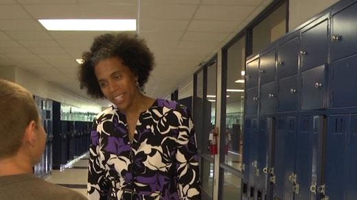 Yardley Farquharson, principal of Fluvanna County Middle School