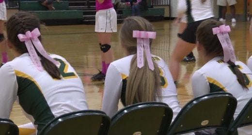 The Governors sported pink ribbons for Alexis.