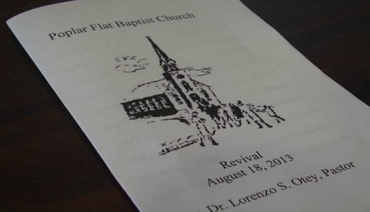 The Poplar Flat Baptist Church held a service offering support to the Murphy family.