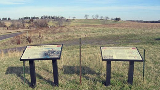 Fleetwood Hill on Brandy Station battlefield, photo courtesy of nps.gov