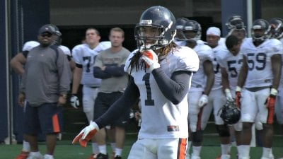 UVa junior defensive back Demetrious Nicholson