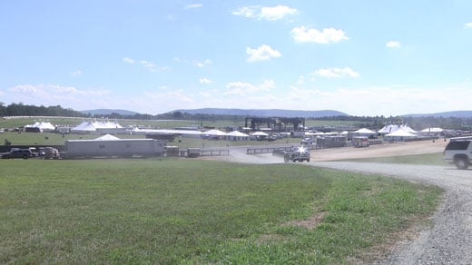 Preparations are underway for the Lockn' Festival