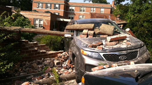 Car crashes into 15th St. NW in Charlottesville