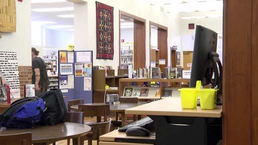Inside the Staunton Public Library.