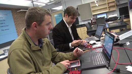 Teachers at Buford Middle School learn advanced computer skills