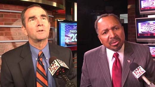 left: Ralph Northam, right: E.W. Jackson