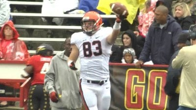 Jake McGee had 8 catches for 114 yards and a TD