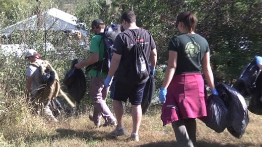 Volunteers clean up Rivanna Trail
