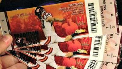 Cody Journell will appear on the tickets for the Maryland game