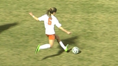 Morgan Brian scored her 14th goal of the season