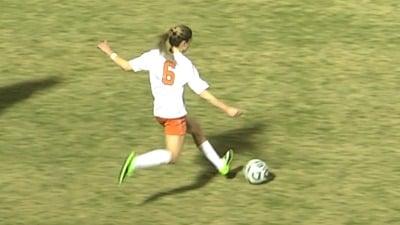 Morgan Brian scored her 14th goal of the season
