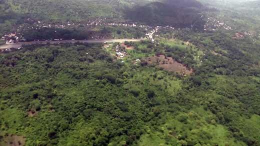 Aerial photo of trip to Siuna, Nicaragua.