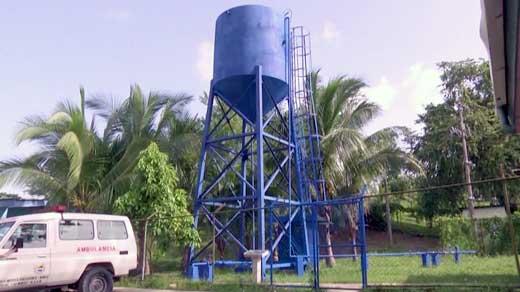 Water tower in Siuna, Nicaragua