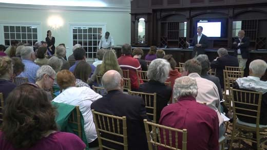 Hundreds hear Eric Trump lay out plans for a golf course in Albemarle County.