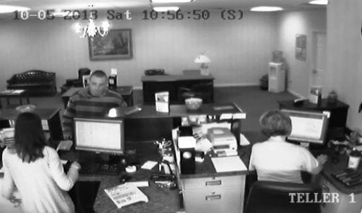 Surveillance photo from United Bank on Franklin Street