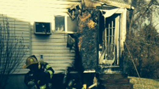House fire on Prospect Ave