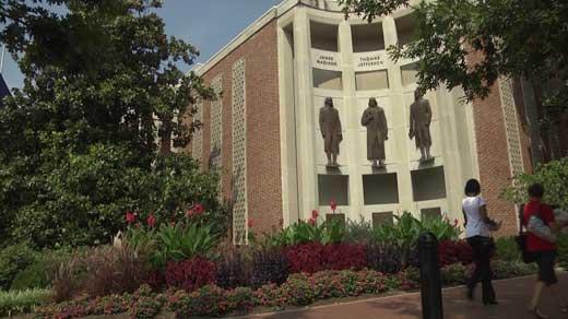 Outside Charlottesville City Hall