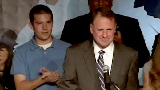 Senator Creigh Deeds and his son Gus during 2009 campaign for governor.