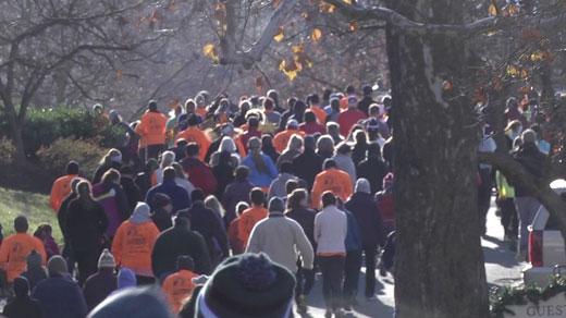 Runners at the Boar's Head Turkey Trot in Albemarle