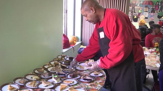 Salvation Army potluck dinner