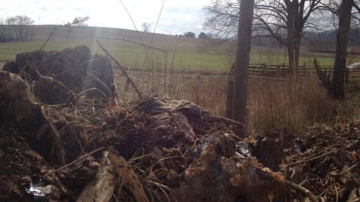 Scene of crash in Rockbridge Co.