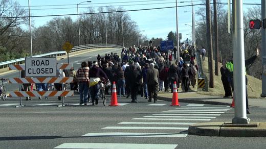 Hundreds celebrate the dedication of Martin Luther King, Jr. Way
